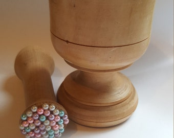 Upcycled Pestle and mortar beautifully unique gift idea