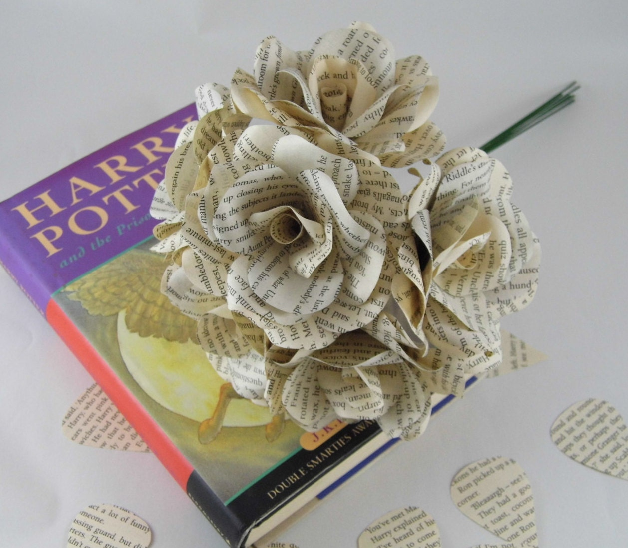 6 x harry potter paper roses book page paper flower roses zoom dhlflorist Image collections