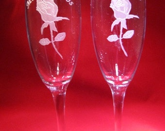 Quinceanera Champagne Glasses~ Quinceanera Flute~ Quinceanera Glasses