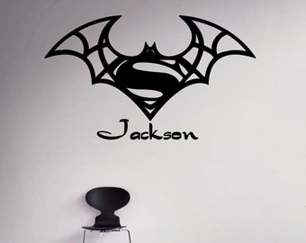 Superman Wall Decal Etsy - Custom vinyl wall decals removable
