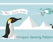 Penguin Sewing Pattern - felt animal pattern and instructions