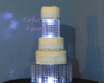 Set of 2 Empire Style Acrylic Cake Stand With LED Lights wedding, Birthday, Anniversary