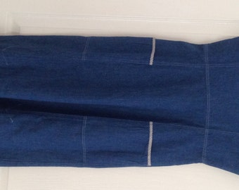 1970s Vintage NEW Denim Dress  Size 10 Label  INEGA