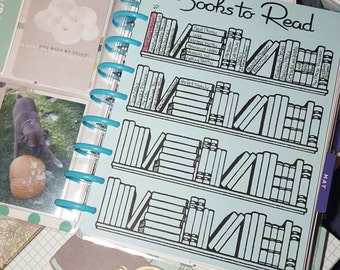 Books to Read sheet for your Happy Planner