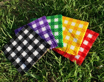 Gingham/Checkered Coasters (Set of 4)