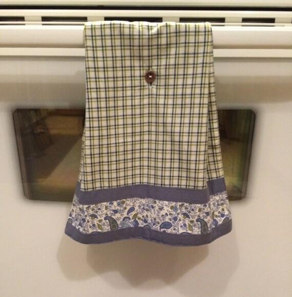 Kitchen Towel Plaid Towel Blue Towel Green Towel Kitchen