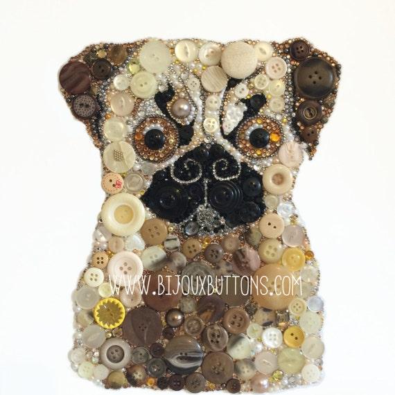 Items similar to pug gift dog themed decor christmas gift for Unique christmas gifts for dog lovers