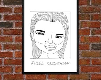 Badly Drawn Khloe Kardashian - Poster