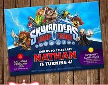 SALE!! Skylanders Invitation Card Party Invitation Birthday Card LL-0125