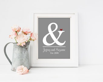 First Anniversary Gift | 1st Anniversary Gift | Wedding Gift for the Couple | Ampersand Wedding Print | Engagement Gift | Bridal Shower Gift