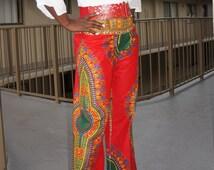FREE SHIPPING* Ankara Pants in Dashiki Prints, Women Dashiki Pants