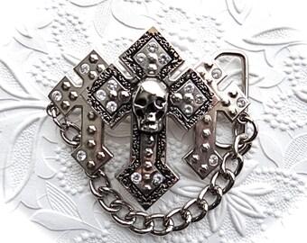 Skull Belt Buckle Goth Belts Leather Crafts BT-115