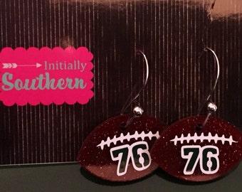 Personalized Football Earrings