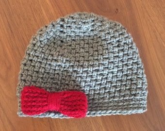 Baby and Toddler Crochet Hat with Bow