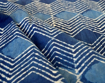 Indigo fabric, Cotton Fabric, Printed Cotton Fabric, Hand Block Print Fabric, Fabric By Yard, Indian Fabric, Block Print Fabric, Fabric
