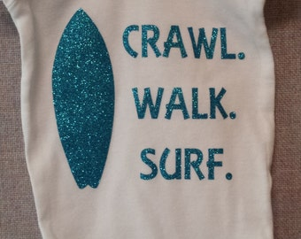 Crawl Walk Surf Onesie