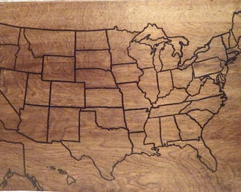 Us Wood Map Travel Map Usa Travel Map Personalized Pin Map