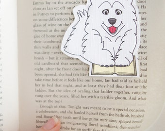Spitz Bookmark, Dog Bookmark, Dog Stationary, Magnetic Bookmarks, Pomeranian, Samoyed, Gifts For Readers, Book Gifts, Love Book, Bookmark