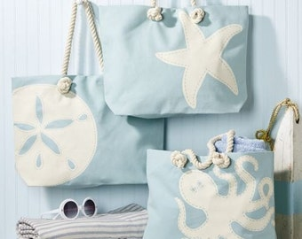 Monogrammed totes  Seas The Day Tote