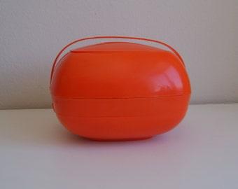 Retro Orange Picnic Caddy (6 place settings)