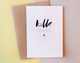 Hello little one // new baby // Greeting Card