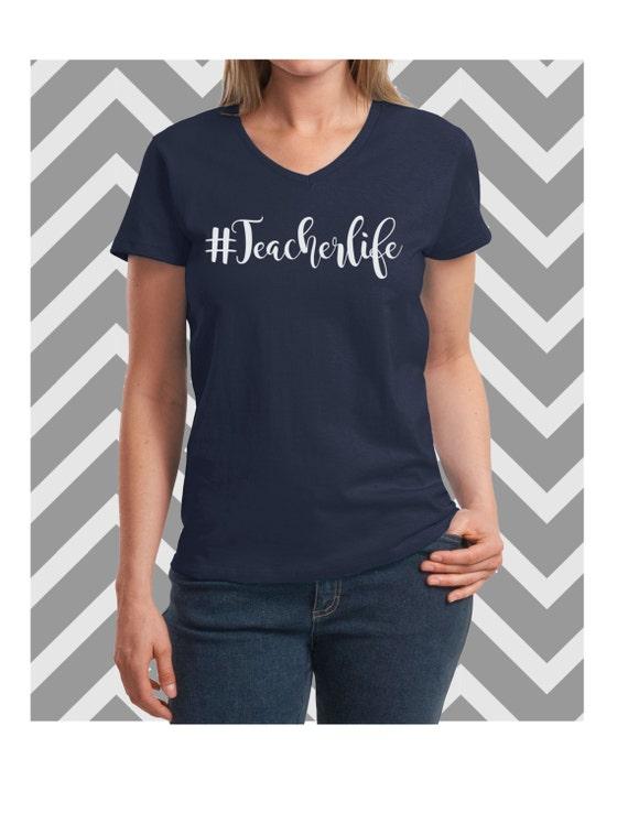Teacherlife soft and comfy oversized custom stylish t shirt for Soft custom t shirts