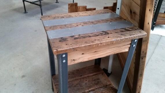 Barn Wood And Angle Iron Side Table Barn Wood End Table
