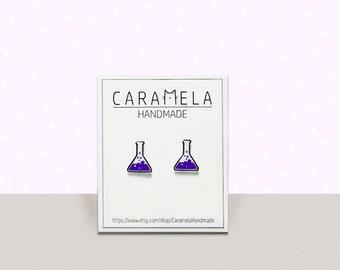 Science Tubes stud earrings Geek Nerd Science Chemistry earrings Science jewelry Gift for her