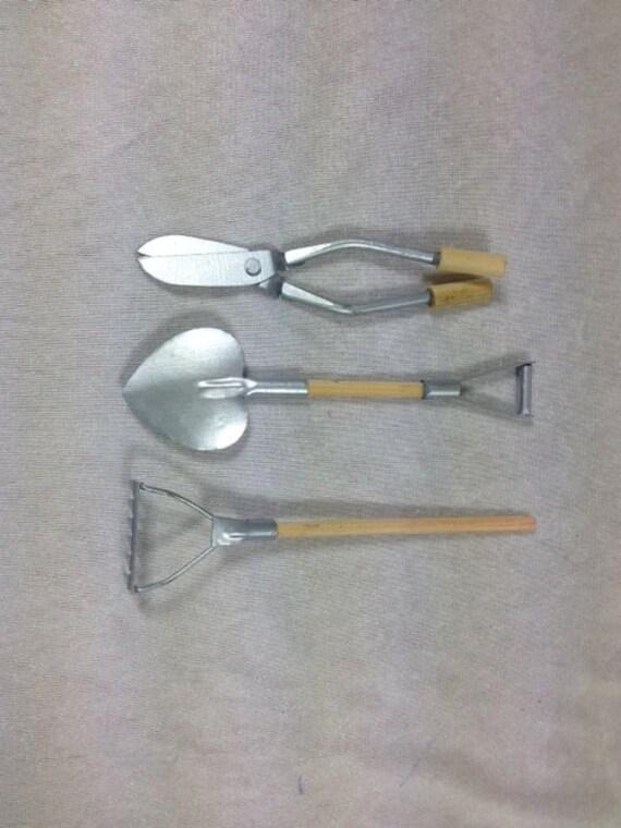 3 fairy garden tools mini garden tools miniature garden for Small garden tools set of 6
