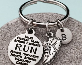 Running Girl Key Ring