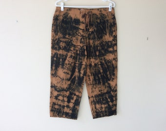 Post Apocalyptic Pants Post Apocalyptic Clothing Women's Apocalyptic Cropped Pants Bleached Pants Wastelander Wasteland Clothing