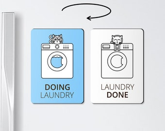 Laundry reminder - Doing laundry - laundry room organization, washing machine, laundry magnet, laundry gift, chore magnet