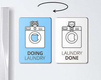 Laundry reminder - Doing laundry - laundry room organization, washing machine, laundry magnet, laundry gift, chore magnet