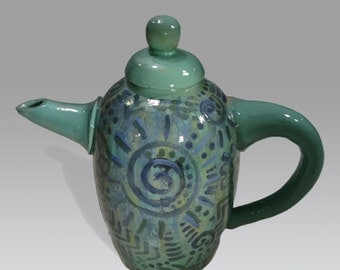 Small ceramic teapot, made by hand