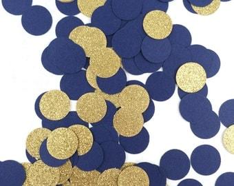 Blue And Gold Confetti