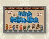 BUY 2, GET 1 FREE! Super Mario Bros Cross Stitch Pattern, Retro Super Mario Bros, Instant Download, video game Cross Stitch Pattern, #P034