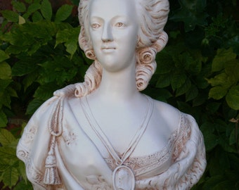 Large bust statue Marie Antoinette Queen of France