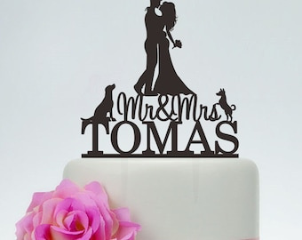 Image result for silhouette cake topper with dogs