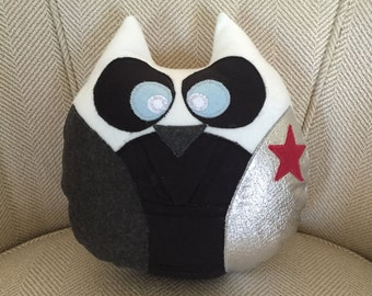 Winter Soldier Inspired Owl