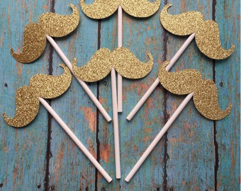 Mustache Cupcake Toppers, Lil Man Cupcake Toppers, Little Man Cupcake Toppers, Baby Boy Cupcake Toppers, Gender Reveal Cupcake Toppers