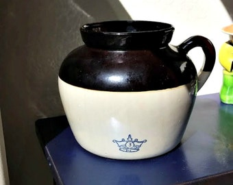Vintage Crock Durgin Park Market Dining Rooms USA Advertising Stoneware Pot    Crock Part 19