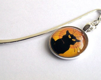 Le Chat Noir Bookmark ~ Black Cat Book Mark ~ Cat Bookmark ~ Art Nouveau