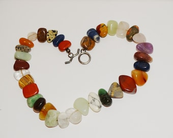 "VGE 925 Sterling Silver Genuine Multicolor 16"" Necklace."