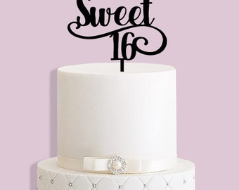Sweet Sixteen 16th Birthday Cake Topper