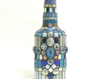 Mosaic Bottle Blue Light