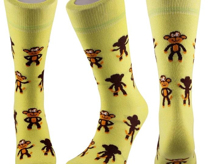 Samson® Monkey Fashion Socks Mid Calf Novelty Dress Funny