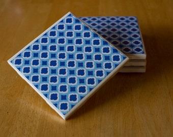 Set of 4 handmade ceramic coasters