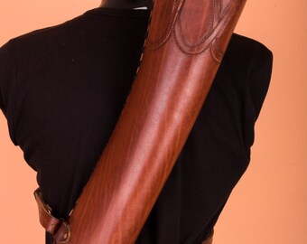 Leather archery quiver, LARP, Custom, made to order