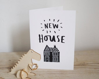 New House – Illustrated card