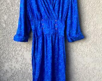 Blue silk Nora Noh dress